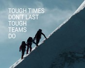 Tough Times Don't Last Mountain Climbing Team Color