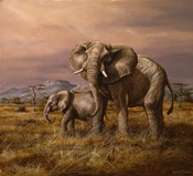 Mother and Child (Elephants)