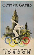 Official Poster for London Olympic Games 1948 Walter Herz
