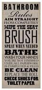 Bathroom Rules (Black on Beige)