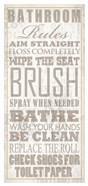 Bathroom Rules (Beige on White)