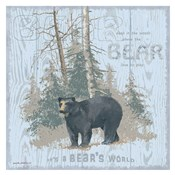 Bear's World Gray (square)