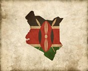 Map with Flag Overlay Kenya