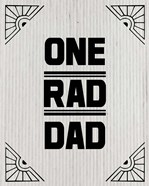 One Rad Dad - White Cardboard