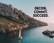 Decide Commit Succeed - Sailboat Color