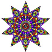 Being Silly Mandala Colored