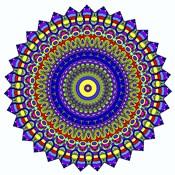 Nights Mandala in Blue