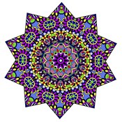 Shining Mandala in Purples
