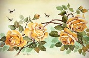 Yellow Roses with Bees