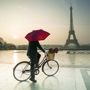 Bike & Red Umbrella
