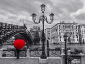 Venice BW with Red