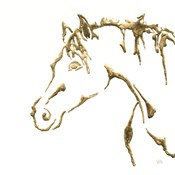 Gilded Cowpony on White
