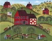Primitive Americana Red Apple Barn