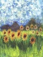 Sunflower Mountain Garden Flag