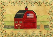 Primtive American Red Barn