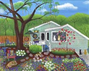 Cats and Dog at Garden Folk Art House