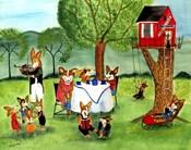 Corgi Dog Tea Party