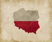 Map with Flag Overlay Poland