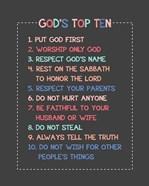 God's Top Ten Stitch Border - Pink