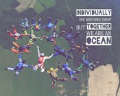 Together We Are An Ocean - Skydiving Team Color