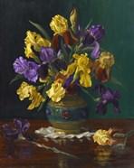 Iris in Cloisonne Vase