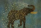 Gold Spraying Elephant