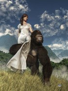 Ape And Girl