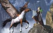 Elf Summoning A Pegasus