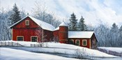 Red Barn Winter