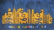 Philly Skyline License Plate Art