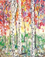 Colorful Birch Forest