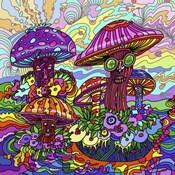 Pop Art - Mushrooms
