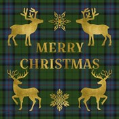 Merry Christmas Plaid - Gold & Green