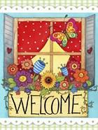 Summer Flower Window Welcome