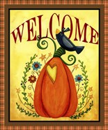 Crow Pumpkin Welcome
