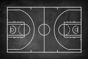 Basketball Court Chalkboard Background