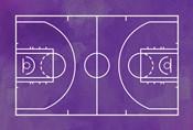 Basketball Court Purple Paint Background