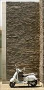 Vespa Scooter Brick Wall