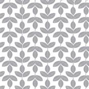 Allover Leaf Pattern Grey