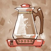 Coffee Warmer - Coral & Brown