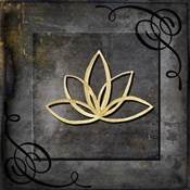 Grunge Gold Crown Lotus