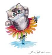 Kitten Ballerina Daisy Flower Dance Persian Cat
