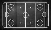Ice Hockey Rink Chalkboard