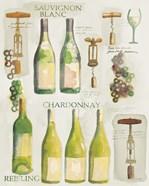 White Wine Collage on White