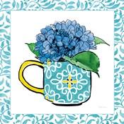 Floral Teacup III Vine Border