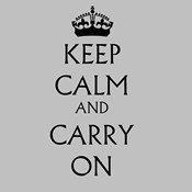 Keep Calm & Carry On - White