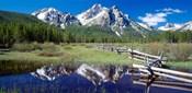 McGown Peak Reflected on a Lake, Sawtooth Mountains, Idaho