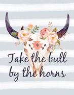 Bull Skull on Stripes III