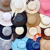 Hats on a Rack