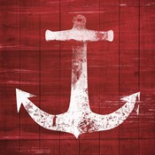 Red and White Anchor